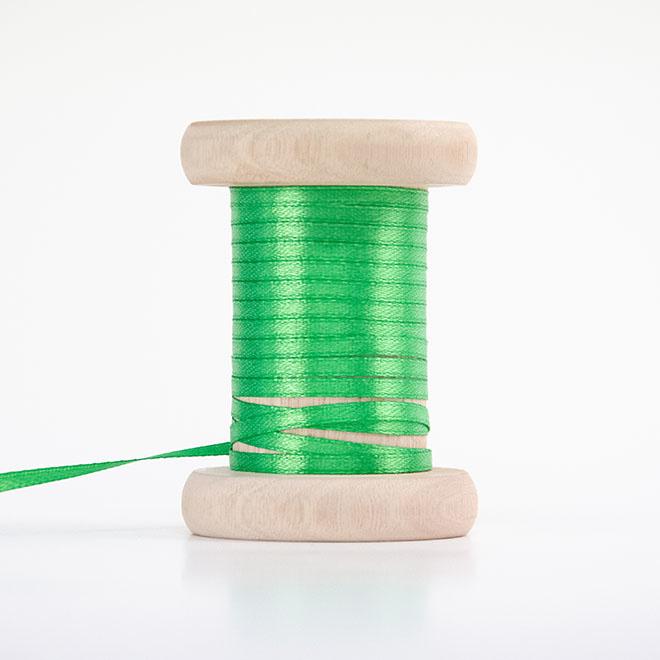 Groen satijnlint 3mm (per meter)