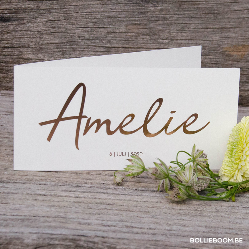 Goud rosé folie   Amelie   8 juli 2020