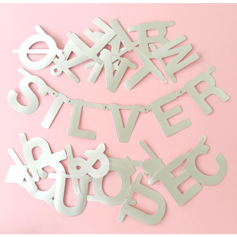 Letterslinger zilver