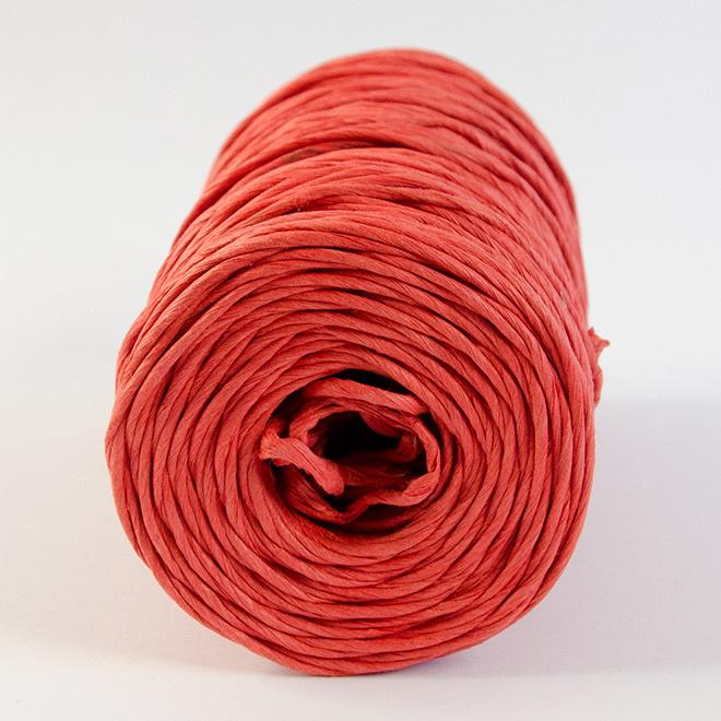 Rode papieren koord met ijzerdraad (per meter)