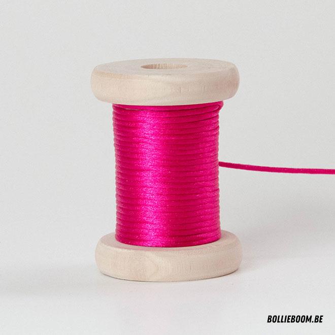 Cosmic pink satijnkoord (per meter)