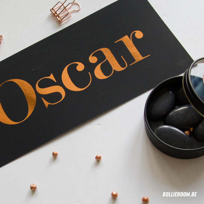 Geboortekaartje Oscar ***koperfolie