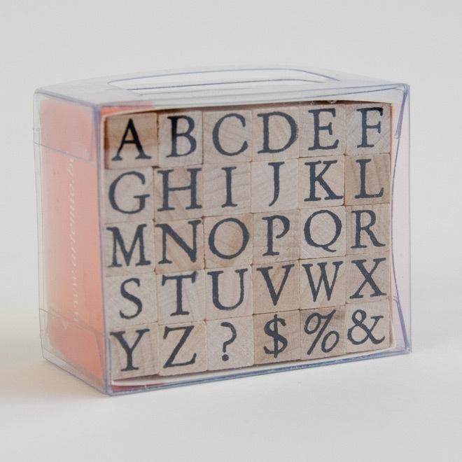Stempelset: alfabet in kapitalen: small