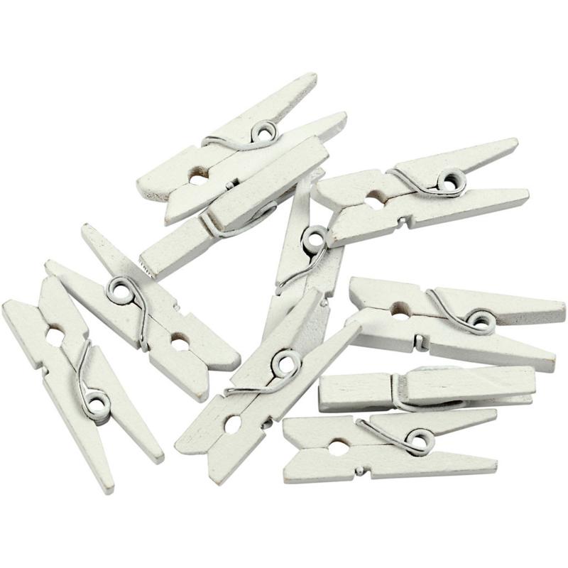 Witte kleine wasspeldjes: 36 stuks