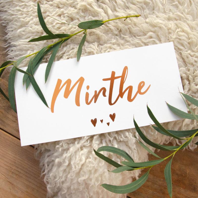 Hartje   Mirthe   11 oktober 2020