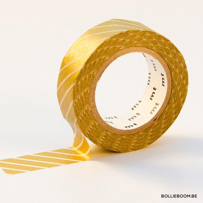 Gouden met witte fijnen lijntjes masking tape