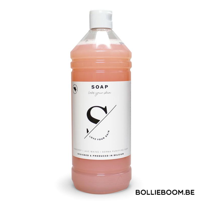 Vloeibare zeep in perzik kleur