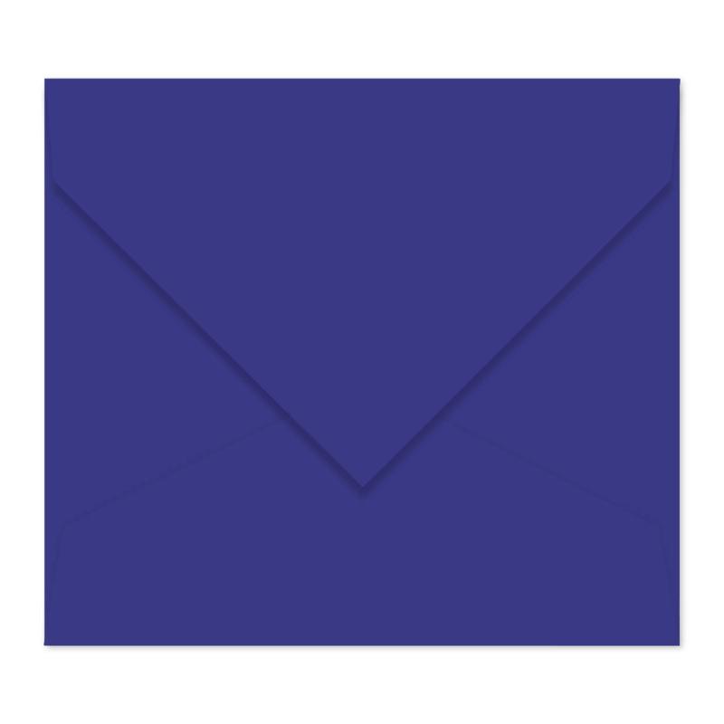 Paarsblauwe envelop