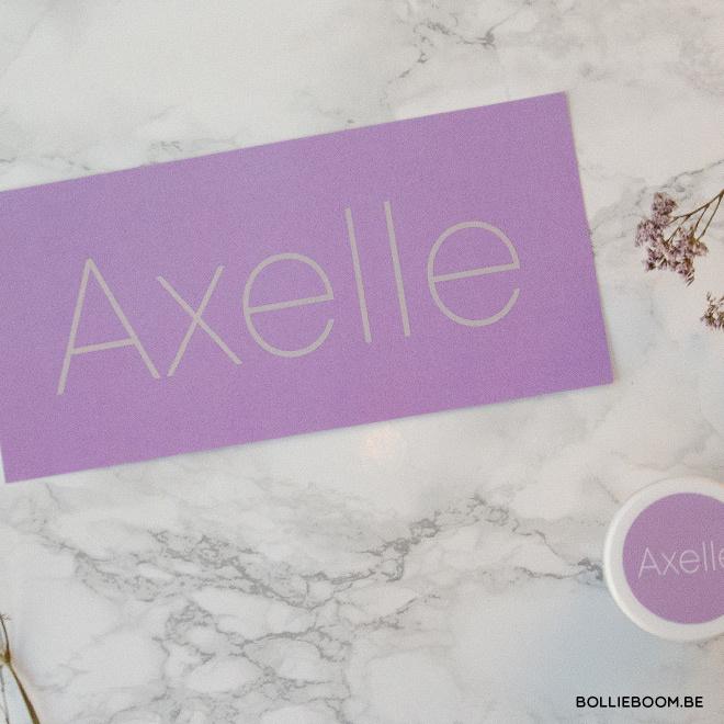 Goud rosé folie geboortekaartje AXELLE