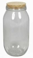 Glazen pot met kurk: medium