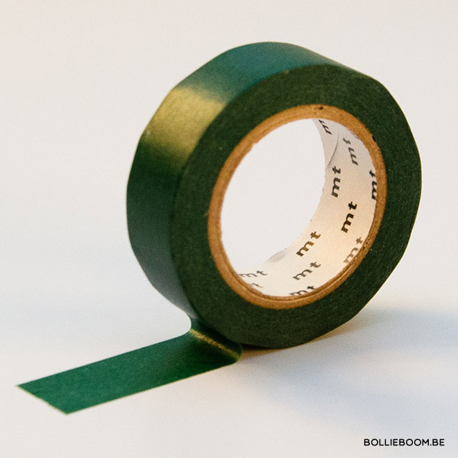 Donkergroene masking tape