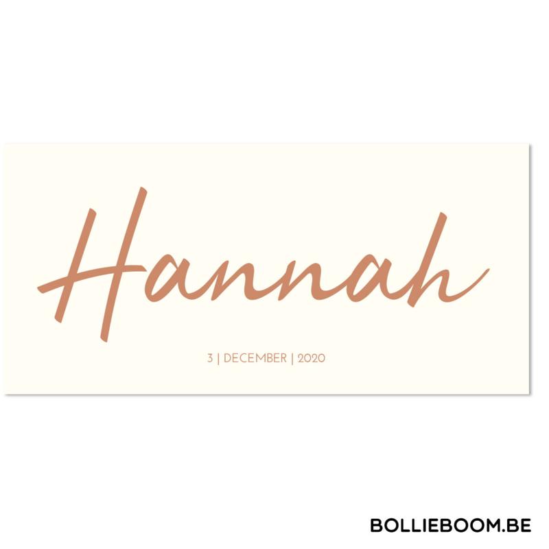 Koperfolie | Hannah | 3 december 2020