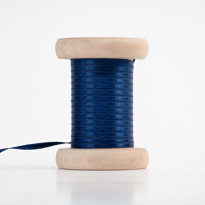 Donkerblauw satijnlint 3mm (per meter)