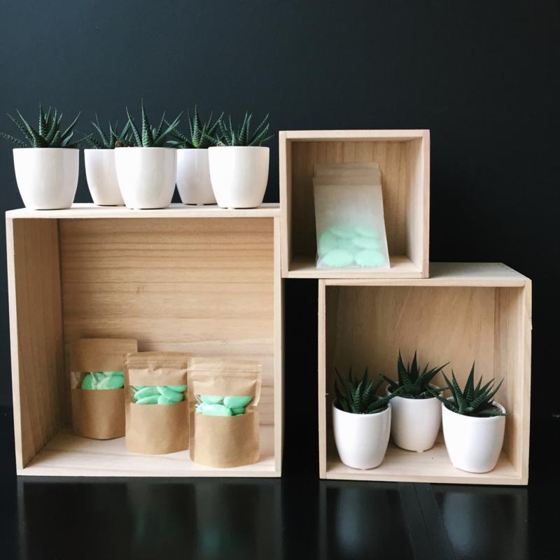 Set van 3 kubusboxen