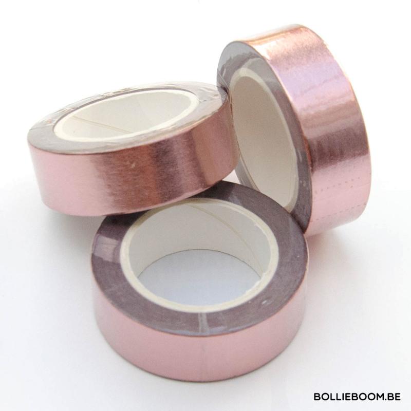 Blinkende goud rosé masking tape
