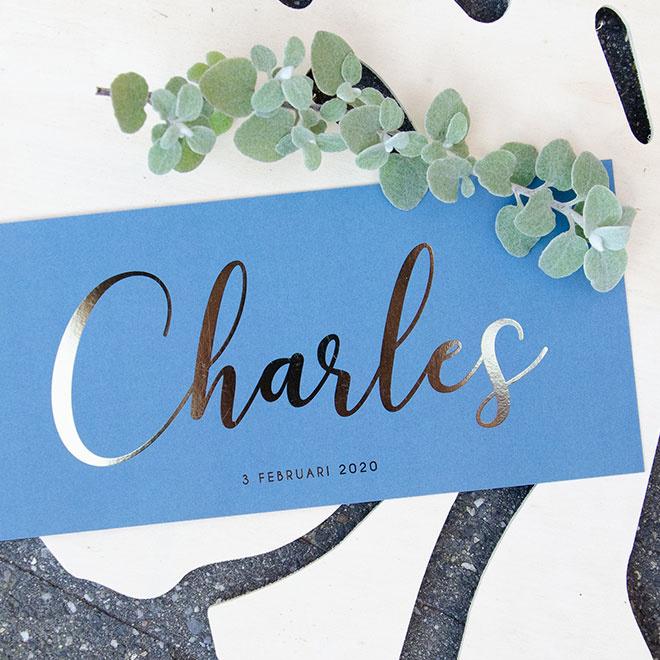 Goudfolie   Charles    3 februari 2020