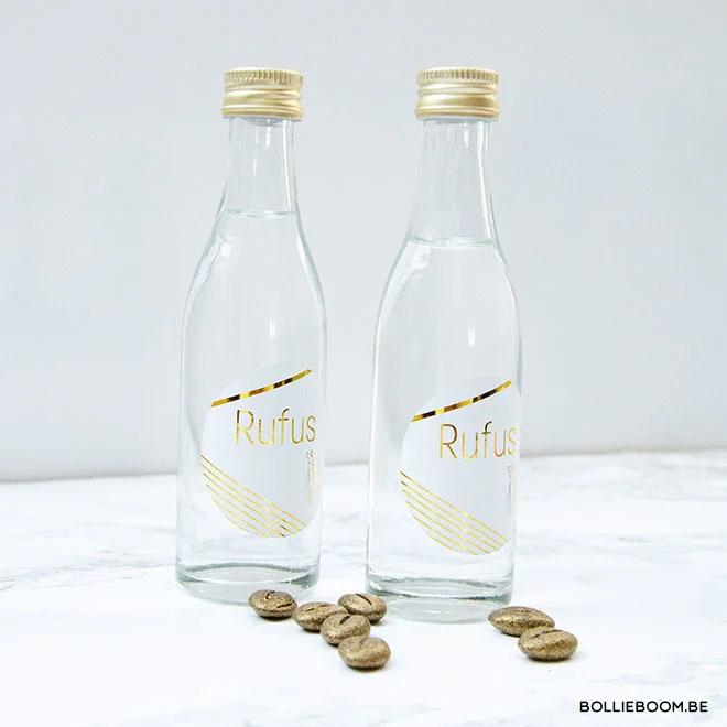 Rond glazen flesje