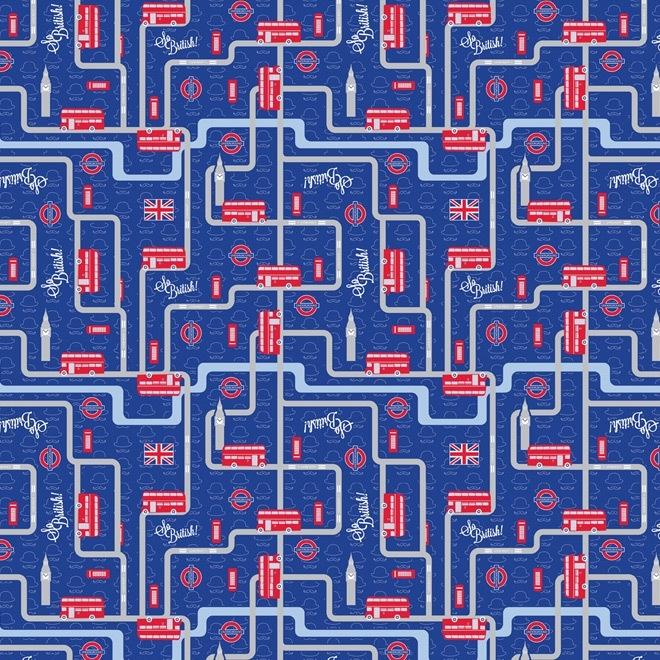 Artepatch papier: koningsblauw Londen
