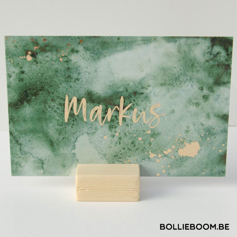 Goudfolie geboortekaartje MARKUS