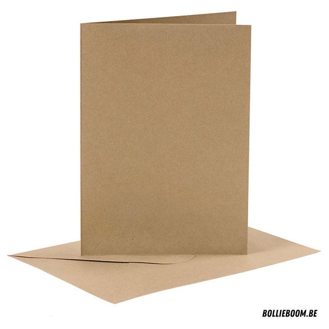 Kraft blanco kaartje + envelop