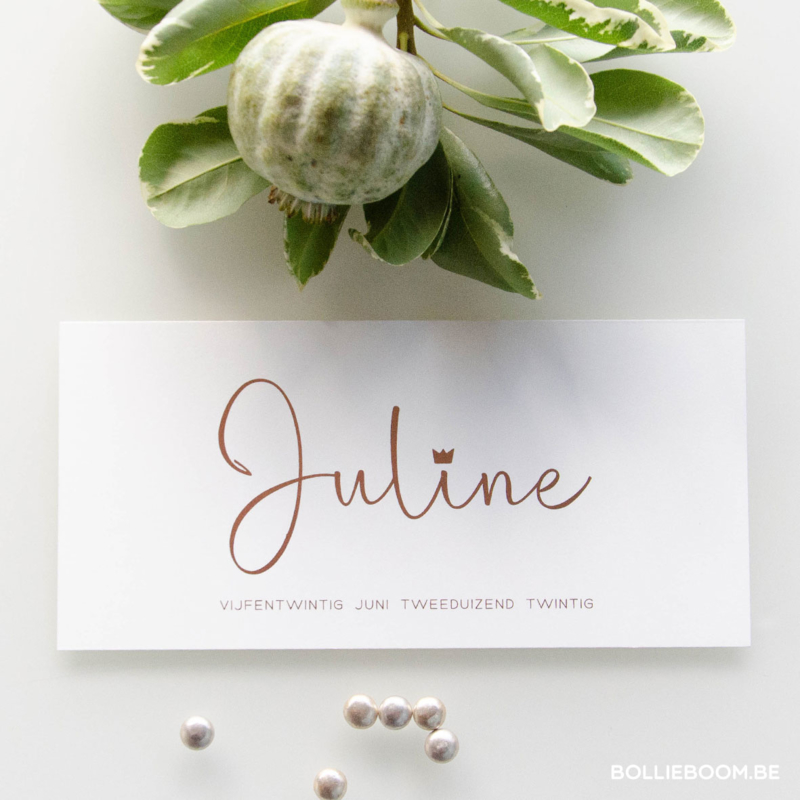 Goud rosé folie | Juline | 25 juni 2020