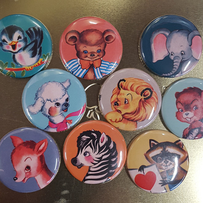 Retro dieren magneten