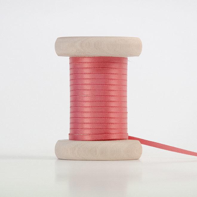 Licht bordeaux satijnlint 3mm (per meter)