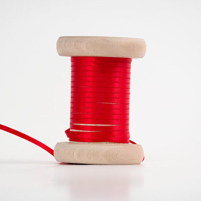 Rood satijnlint 3mm (per meter)