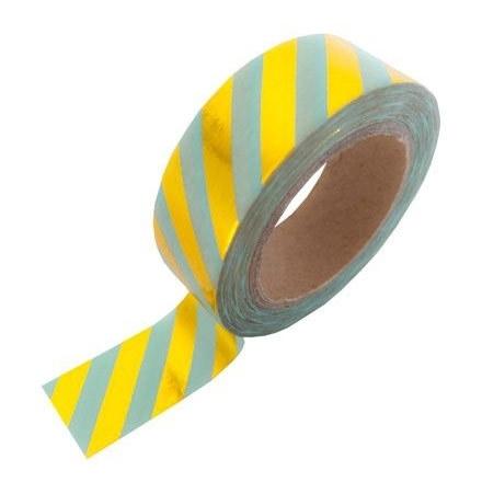 Munt masking tape met goud blinkende strepen