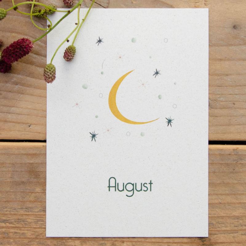 Eco papier geboortekaartje AUGUST