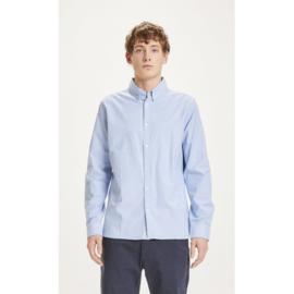 Knowledge Cotton Apparel - Elder Regular Fit Oxford Shirt Lapis Blue