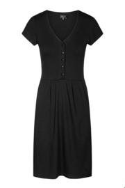Zilch - Dress Buttons Bouquet Black