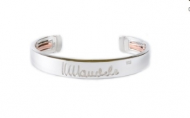 mandela bangle zilver large