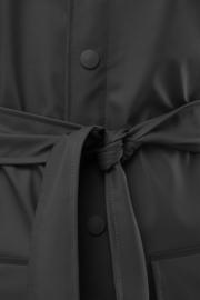 RAINS - belt jacket - black