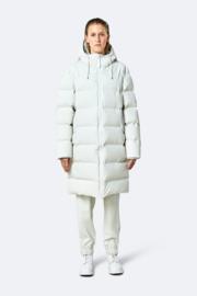 RAINS - Long Puffer Jacket - Off White