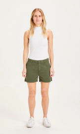 Knowledge Cotton Apparel - Willow Chino Shorts Forrest Green