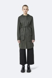 RAINS - belt jacket - green