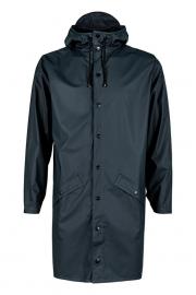 RAINS - long jacket - blue.