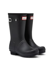 Hunter - Woman's Original Wellington Short Boot Black
