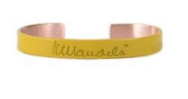 mandela bangle - geel