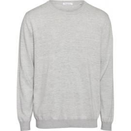 Knowledge Cotton Apparel - Trui Forest Grey Melange