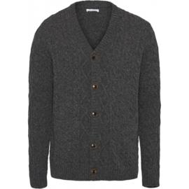 Knowledge Cotton Apparel - Valley Cardigan Grey