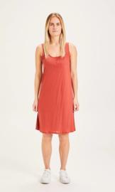 Knowledge Cotton Apparel - Heather Dress Marsala
