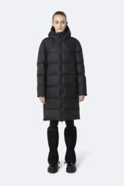 RAINS - Long Puffer Jacket - Black