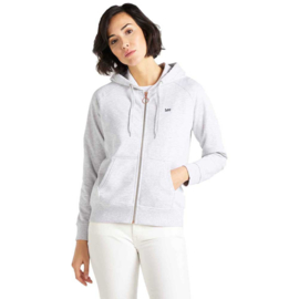 Lee - Zip Through Hoodie Sharp Grey Mele