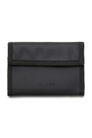 RAINS - Velcro Wallet Black