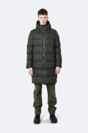 RAINS - Long Puffer Jacket - Green