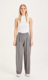 Knowledge Cotton Apparel - Posey Pin Stripe Wide Pants Grey