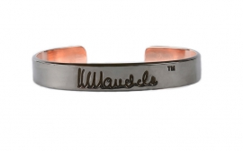 mandela bangle - zwart koper