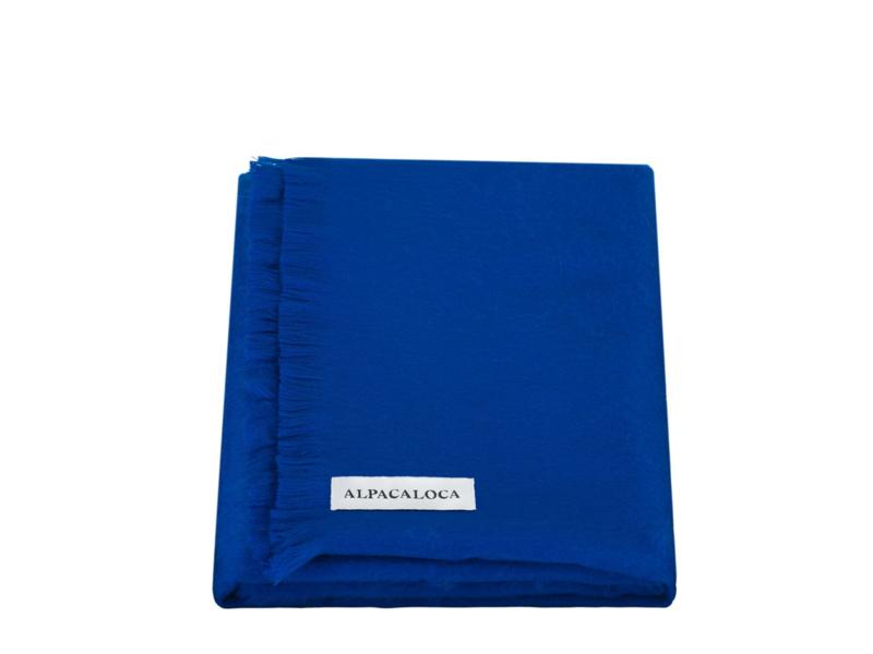 Alpaca Loca Scarf Azure Blue